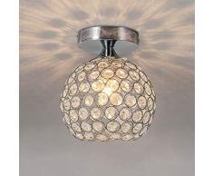 AUA lampadario Cristallo, Moderna Mini lampadario Camera da Letto 15 cm, Plafoniera LED Soffitto per Corridoio, Soggiorno (E27 Lampadina Non Inclusa)
