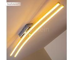 Plafoniera LED Moderna per Camera da Letto- Lampada da Soffitto con Elementi Luminosi Mobili- Luce Bianca Calda ideale come Illuminazione Soggiorno