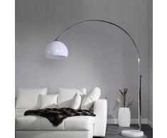 Design Delights - Lampada retrò grande ad arco bianco regolabile