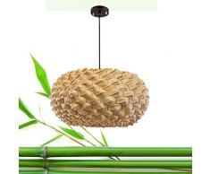 Lampadario di bambù Retro Light Fixtures Lampadari di vimini Lampadario Dinging Room Lampada a soffitto Lampada a sospensione Agriturismo, vimini di rattan Shades Weave Lamp TZZ (dimensioni : 30cm)
