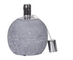 Giardino Lampada ad olio Terracotta, Lampada rotonda in stile country, Terrazzi Fiaccola