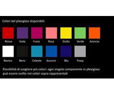 Lampadario a Sospensione Moderno In Plexiglass Colori a Scelta Camera da Letto Bambini Cameretta