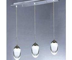 LMDH Moderno Cristallo Pioggia Goccia lampadario a Sospensione Illuminazione plafoniere per Sala da Pranzo Bagno Camera da Letto Soggiorno Ristorante Portico