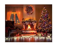 litom catena di luce a energia solare, LED catena luminosa solare esterno luce catena, bunt, 200 LED 72,18 ft impermeabile decorativo con 8 lavoro per giardino, casa, Party, Natale, interno e esterno colorato