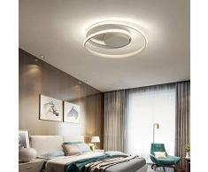 FCX-LIGHT Spirale Creativo LED Luce da soffitto Camera da Letto Plafoniera Moderno Minimalista Soffitto Lamp per Soggiorno Ristorante,Whitelight,46CM