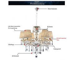 Hengda® Lampadari di Cristallo,Classico 6 Lampadari in Cristallo,Droplet Lampada a sospensione Lampadario Plafoniera per Studio Room / Office, Sala da pranzo, Camera da letto, Soggiorno