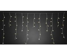 Konstsmide LED nevischio, 200 Globes bianca calda, diodi, 24 V trasformatore esterno, cavo trasparente/3672 – 103
