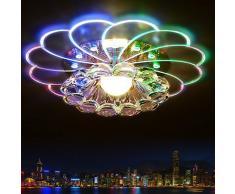 Lampadario da soffitto a LED 5 W, design moderno, in cristallo, illuminazione per soggiorno o portico