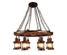 Lit. Lampadari - Retrò sbarra lampada di ferro moderno e minimalista stile lampadario industriale E27 Lampade a Sospensione e Plafoniere