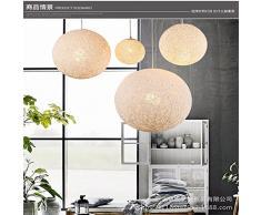 VIA Rustico rurale vento lampadari a sfera personalità creativa ristorante bar piccolo lampadario lampadario cafe sfera lampadari in rattan,Giallo,500mm