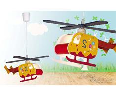 Lampada a sospensione a forma di elicottero / Lampada per bambini / JS1/4/205
