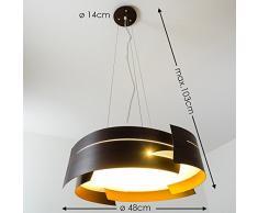 Plafoniera Circolare Lampadario a Sospensione Novara Marrone Design Moderno