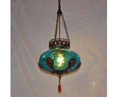 Zhang Yan ZYY * Lampadario Singolo Stile Europeo mediterraneo, Lampada del candeliere della Barra della Lampada della Barra della Lampada della Luce di entrata della Boemia del Marocco, 60w