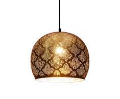 Lampada orientale marocchina - lampada a sospensione - Lampada da soffitto Rayhana Oro - 30cm- molto pratica per un ottima illuminazione - trasmettere un eccellente - raffinata decorazione