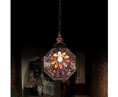 Retro lampada a sospensione E14 Lampada a sospensione Marocco 1 luci Mediterranean lampadario design ferro e acrilico per cucina ristorante camera Ø21 cm * 33 cm