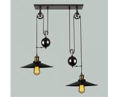 BLYC- Lampadario design continentale creativi di personalità Arte del ferro di allungata verso il basso la lampada a sospensione di puleggia , double