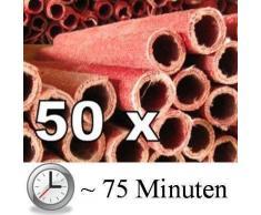 50x Fiaccola di cera Torcia - Tempo ustione ca. 75 min Torce-giardino fiaccola di cera