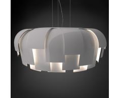 Fontana Arte Wig lampadario a sospensione, bianco lucido, Ø x A 64 x 26 cm