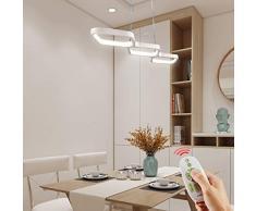 Anten 30W Lampada Lampadario, Dimmerabile Lampada a Sospensione LED, Lampadario a Sospensione, con Telecomando, Solo per Sala da Pranzo
