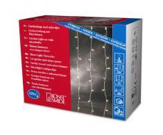 Konstsmide 3705-003 / Tenda di luci Microlight / 320 lampade Trasparenti / 24V trasformatore da Esterno/Cavo Trasparente