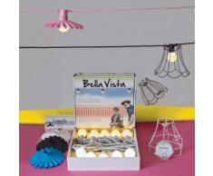 SELETTI Bella Vista SET 10 Luci a LED da giardino Cavo Rosa