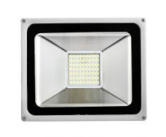 50W LED di inondazione, Spotlight esterno, bianco diurno (6000-6500K), impermeabile, AC 200-240V, Super Bright, luminoso eccellente, 5000LM,CE, ROHS Certificazione