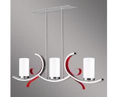 Mirami 3B lampadario lampada a sospensione, moderna Art Déco Lampada Design lampada a sospensione classico rosso
