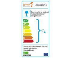 Tappeto moderno da parete a LED Faretto Spot, in particolare design, 1 X 5 W GU10 LED incl., 345 Lumen, 2700 K Bianco caldo, metallo, colore: nero opaco
