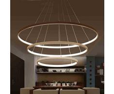 Led acrilico Lampada Lampada a sospensione semplice moderna dell'anello del cerchio arte creativa per Ristorante/Living Room Hotel/Camera di luce/camera da letto /, 3circle-60 80 100-caldo