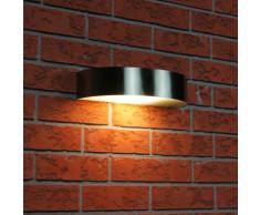 Ranex 5000.350 Leeds Lampada da Parete Arco Acciaio Inossidabile Semicerchio e Vetro Smerigliato, n/a, spina/presa