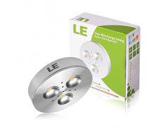 LE Lampada da Armadio LED 3W, Luminosa, Faretto Bianca Diurna, 5 pz
