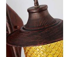 YYF lampada a muro retrò legno Continental Ferro Marocco Door Bars lanterna parete illuminazione corridoio creative personalità