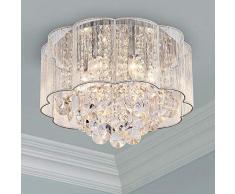 Moderno cristallo goccia di pioggia lampadario illuminazione a incasso LED plafoniera lampada a sospensione per sala da pranzo bagno camera da letto soggiorno lampadine diametro 40 cm altezza 30 cm