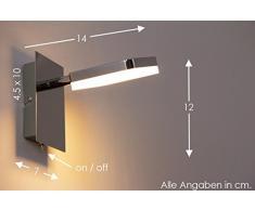 LED Lampada da parete APPLIQUE NEW Metallo Cromato DESIGN