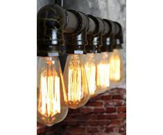 MY-FURNITURE Didier lampada lampadario da soffitto vintage industriale stile steampunk