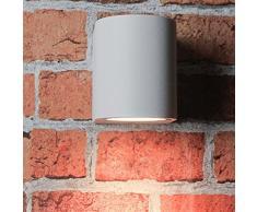 Faretto compatto downlight da esterno per parete bianco Gu10 Faretto Applique Lampada da esterno Illuminazione cortile e giardino