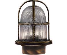 Acquista applique da esterni led nemesis marrone lampade