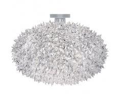 Kartell Bloom C1 Lampada A Soffitto, Confezione da 1 Pezzo, Cristallo, plastica