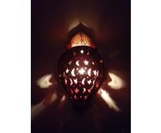 Dettagli su lampada da parete esterno in ferro battuto con piatto