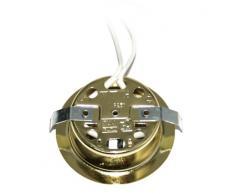 1 Confezioni 12V Alogeno Mobilia Armadietto Cucine Lampada da incasso Luce mobili Faretto da incasso Spot Colore: Gold IP20 incl. G4 Da 20 Watt Lampadina base pin senza trasformatore