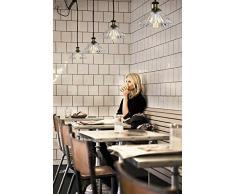MY-Furniture YVES Lampadario/Lampada da soffitto stile Vintage in Vetro e finitura in Ottone