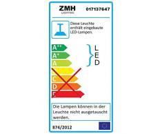 ZMH LED lampada a sospensione tavolo da pranzo in legno rustico dimmerabile 38W con telecomando regolabile in altezza lampada a sospensione sala da pranzo, studio, soggiorno, cucina