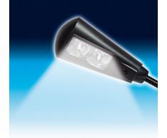 Wedo 2542001 Lampada da Lettura Mobile, 2 Led con Batterie, Nero