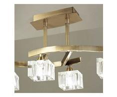 Cubic-Plafoniera a 4 luci, in ottone