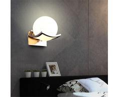 Egomall Lampada da parete in vetro Luce della parete del LED per la camera da letto, bagno, disimpegno