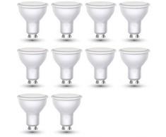 ZoneLED SET, Lampadina LED GU10, 3W (equivalenti a 25W), Luce bianca calda 3000K, 110°,Set di 10 faretti LED