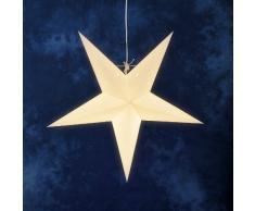 Konstsmide 2964-200 / Stella di carta pendente bianco senza materiale luminescente / 1 lampada trasparente / 230V interno / cavo bianco