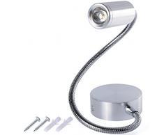 Moderno bianco caldo 3W LED Wall Lamp Light Lampada da parete orientabile braccio flessibile illuminazione chiara lampada di lettura LD526