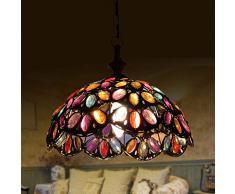 retrò Sospensione E14 Orientale lampada a sospensione Marocco lampadario Mediterraneo progettazione in ferro e acrilico per Cusine ristorante salotto Ø31 cm * 25 cm