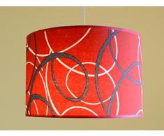 ABH1 moderna lampada a sospensione lampada lampadario Art-deco Design lampada lampadario a sospensione classico rosso